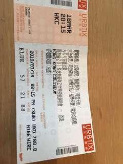 周杰倫演唱會18/3/2018 $780票 最前個行2張連位