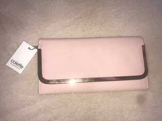 Collette brand new with tags pink wallet purse