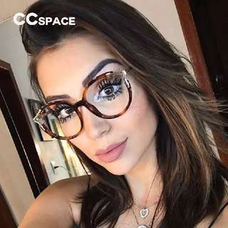 Lady Metal Hollow Round Glasses Frames For Women Cat Eye Brand Designer Optical EyeGlasses Fashion Eyewear
