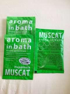 Bath aroma powder from Japan