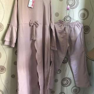 Gamis + celana all size