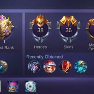 Mobile Legends Account with legend codename storm saber skin and more [Android] CHEAP