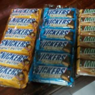 Snickers (Peanutbutter)(Crisper) and Milky Way (Simply Caramel)