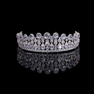 Wedding Crown Wedding Tiara Full Zirconia . Like NEW! Mahkota Wedding.