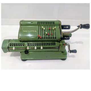 德國製 MELITTA ANTIQUE CALCULATOR 古董計算機 1960S