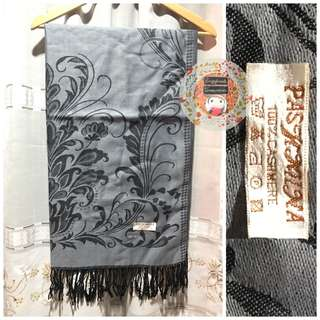 Pashmina Black and Gray Shawl