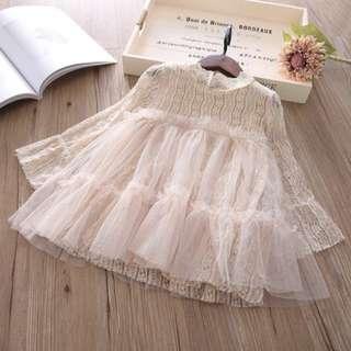 (新貨) 薄紗喱士裙