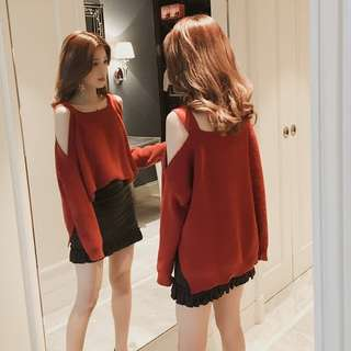 [PO] Uzzlang Cold-Shoulder Top