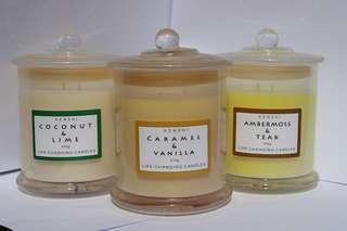 Natural soy wax candles