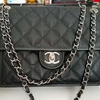 Chanel 荔枝角手袋 黑色chain bag