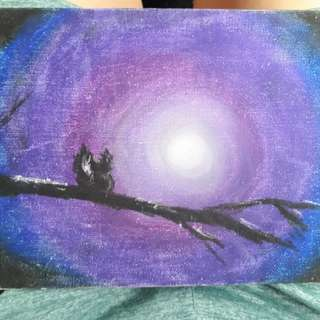 Oil Painting(lonely in the dark)