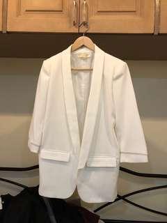 APT8 White Long Blazer