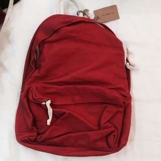BNWT brandy Melville canvas Red Backpack authentic bm