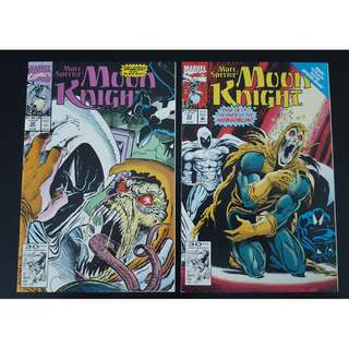 Moon Knight #32 & #33 (1989) Set of 2 Books (Guest-starring SPIDERMAN!)