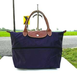 LONGCHAMP Planetes Expandable Purple Tote Bag