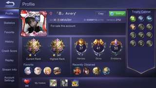 Mobile Legend Account IOS
