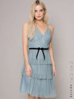 BNWT Chi Chi London Petite Aurora Dress