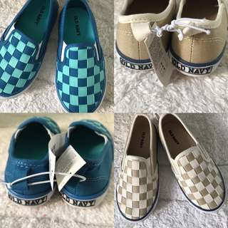 BN Old Navy Baby Boy Weaved Boat Shoes/Slip Ons Size 7 & 8!