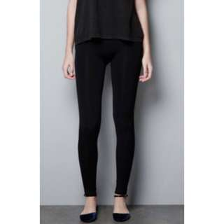 Zara Basic 💋 High Waisted Velvet Leggings
