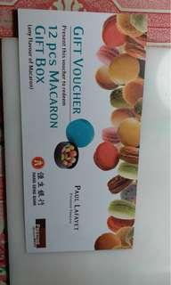 Paul Lafayet Voucher 2張(每張可兌換12個macarons)