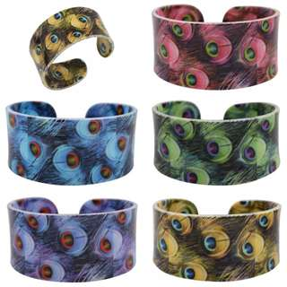 Peacock Feathers Cuffs Bangle