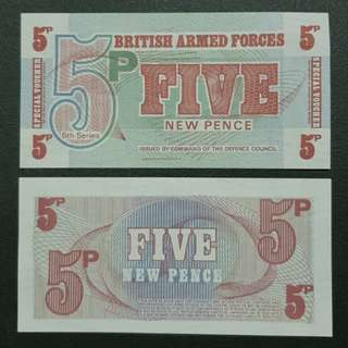 British Armed Forces 5 New Pence 🇹🇨 !!!