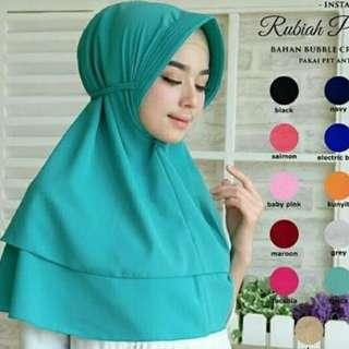 Jilbab rubiah buble crepe