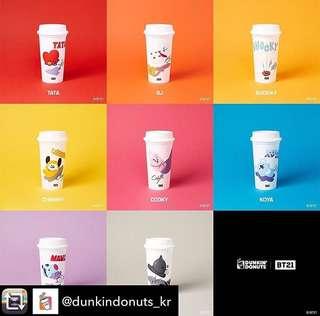 [Last Batch]Bt21 Reusable Cups