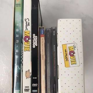 DVDs and Music CDs for Sale!