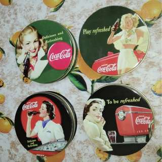 BN Pack of 6 Coasters -Coca-Cola design