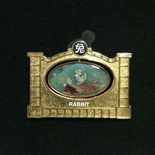 上海 迪士尼 兔年 徽章