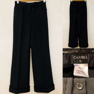 Chanel black loose pants size 34