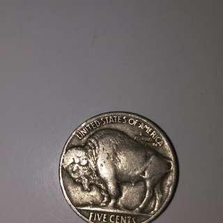1937 America buffalo Nickel