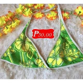 🌸T-00018Green Floral Halter Bikini Top🌸