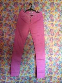Pink Fitted Jeans