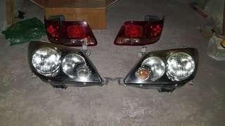 Lampu mobil fortuner G original