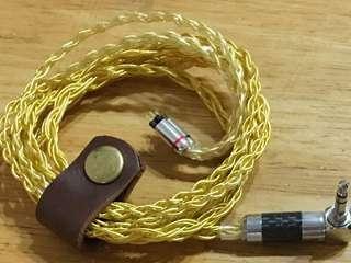 八絞粗芯鍍金 cm耳機線 升級線