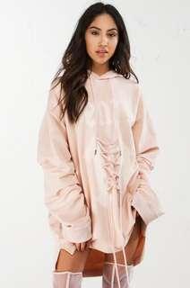 New Puma Fenty Designer Lace front Hoodie Dress Size S