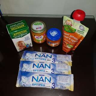 To bless (Nan Optipro 3; Hipp & Gerber baby food; Appeton multivitamins)