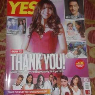 Yes! Maine Mendoza September 2016 issue