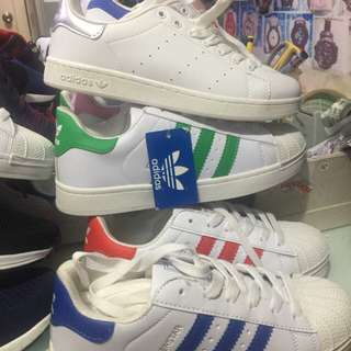 Addidas superstar and stansmith