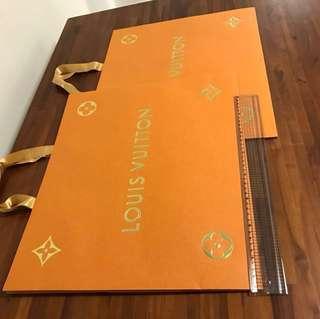 LV paperbag x2