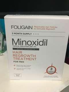 Minoxidil 5% 3 month.