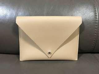 米白 信封型 皮袋