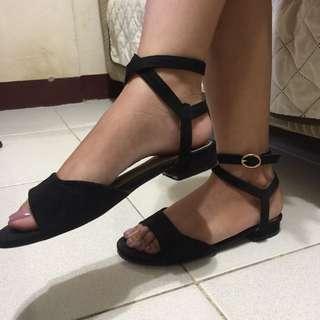 Parisian Suede/Velvet Sandals