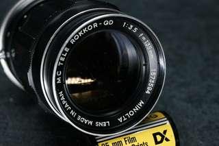~🏆 minolta 135mm f3.5 mc tele rokkor qd camera lens test ed working