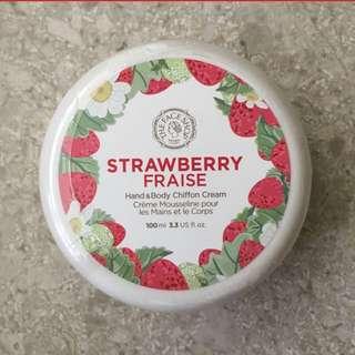 The Face Shop Strawberry Hand & Body Chiffon Cream