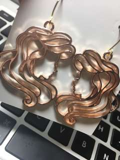 Ariel 美人魚玫瑰金耳環