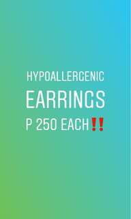 Hypoallergenic Earrings