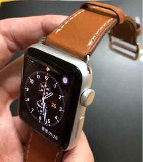 Apple Watch 啡色錶帶 38mm 42mm (全新)